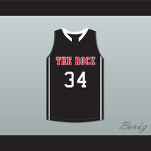 Joel Embiid 34 The Rock High School Black Basketball Jersey 2