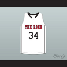 Joel Embiid 34 The Rock High School White Basketball Jersey