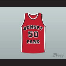 Player 50 Sunset Park Basketball Jersey Stitch Sewn