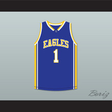 Klay Thompson 1 Santa Margarita Catholic High School Eagles Blue Basketball Jersey 2