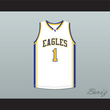 Klay Thompson 1 Santa Margarita Catholic High School Eagles White Basketball Jersey 2