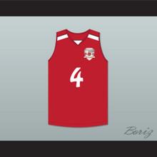 Giannis Antetokounmpo 4 Filathlitikos B.C. Red Basketball Jersey 2