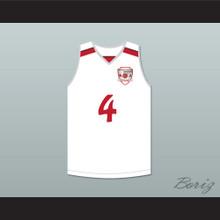 Giannis Antetokounmpo 4 Filathlitikos B.C. White Basketball Jersey