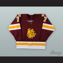 Jason Garrison 7 University of Minnesota-Duluth Bulldogs Hockey Jersey