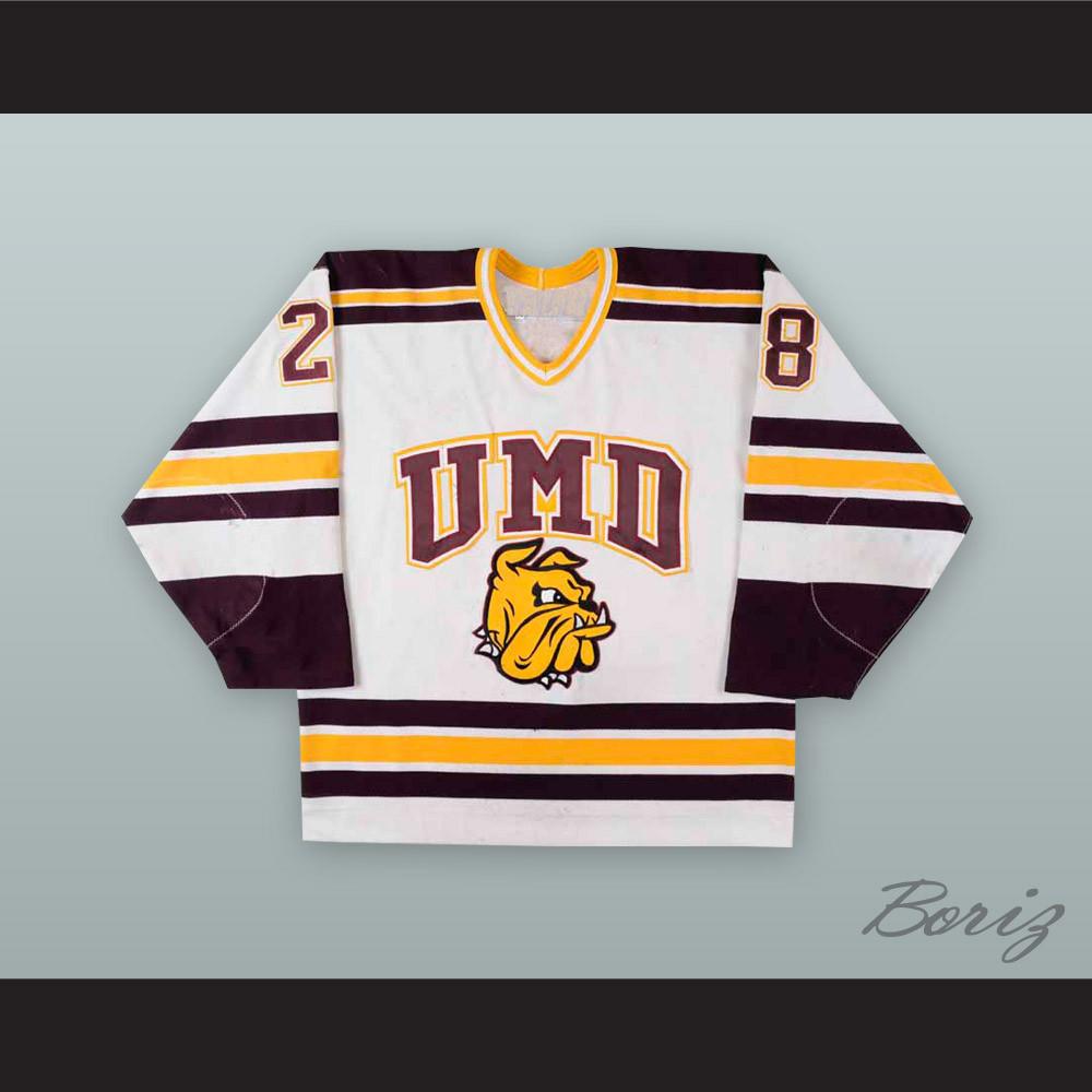 timeless design e36e1 c47dc Ryan Geris 28 University of Minnesota-Duluth Bulldogs Hockey Jersey