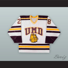 Ryan Geris 28 University of Minnesota-Duluth Bulldogs Hockey Jersey