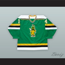 Kevin Kellett 14 Prince Albert Raiders Green Hockey Jersey