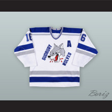 Nick Foligno 16 Sudbury Wolves White Hockey Jersey