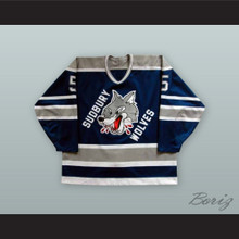 Sudbury Wolves Navy Blue Hockey Jersey