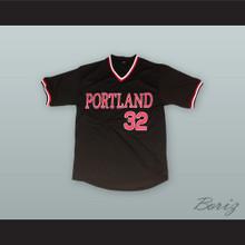 Portland Beavers Black Baseball Jersey