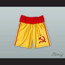 Ivan Drago USSR Yellow Boxing Shorts Rocky IV