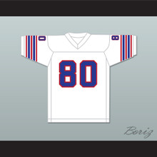 1974 WFL Steve Barrios 80 Birmingham Americans Home Football Jersey
