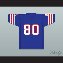 1974 WFL Steve Barrios 80 Birmingham Americans Road Football Jersey