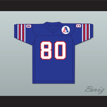 1974 WFL Steve Barrios 80 Birmingham Americans Road Football Jersey with Patch