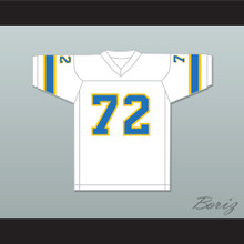 1974-75 WFL Steve Chomyszak 72 Philadelphia Bell Home Football Jersey
