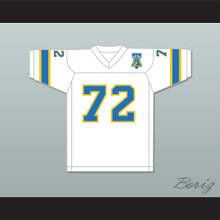 1974-75 WFL Steve Chomyszak 72 Philadelphia Bell Home Football Jersey with Patch