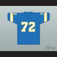 1974-75 WFL Steve Chomyszak 72 Philadelphia Bell Road Football Jersey