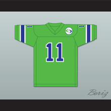 1974 WFL Pete Beathard 11 Portland Storm Road Football Jersey with Patch