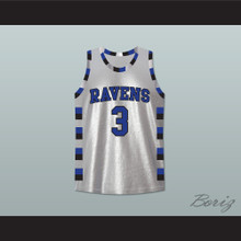 Lucas Scott One Tree Hill Ravens Silver Basketball Jersey Any Number or Player