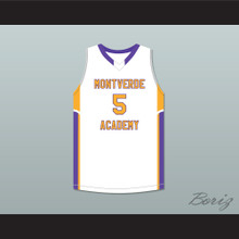 R.J. Barrett 5 Montverde Academy Eagles White Basketball Jersey