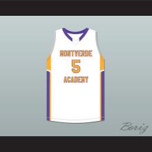 R.J. Barrett 5 Montverde Academy Eagles White Basketball Jersey
