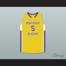 R.J. Barrett 5 Montverde Academy Eagles Yellow Basketball Jersey