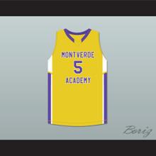 R.J. Barrett 5 Montverde Academy Eagles Yellow Basketball Jersey