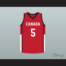 R.J. Barrett 5 Canada Red Basketball Jersey