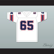 1985 USFL Gary Zimmerman 65 Los Angeles Express Home Football Jersey
