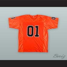 Dukes of Hazzard 01 General Lee Orange Football Jersey