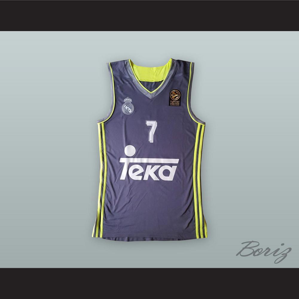 best sneakers 490b5 7cbf0 Luka Doncic 7 Real Madrid Purple Basketball Jersey