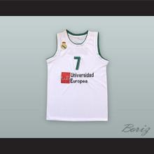 Luka Doncic 7 Real Madrid White Basketball Jersey 3