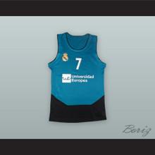 Luka Doncic 7 Real Madrid Teal/Black Basketball Jersey