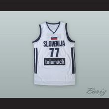 Luka Doncic 77 Slovenija White Basketball Jersey