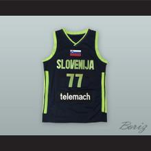 Luka Doncic 77 Slovenija Black Basketball Jersey
