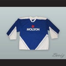 Molson Beer Blue Hockey Jersey