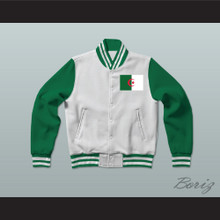 Algeria Varsity Letterman Jacket-Style Sweatshirt
