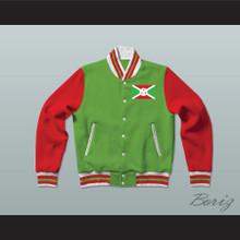Burundi Varsity Letterman Jacket-Style Sweatshirt