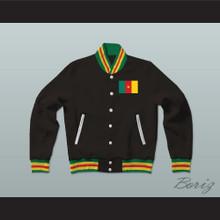 Cameroon Varsity Letterman Jacket-Style Sweatshirt
