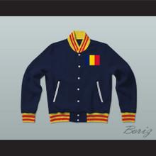 Chad Varsity Letterman Jacket-Style Sweatshirt