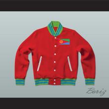 Eritrea Varsity Letterman Jacket-Style Sweatshirt