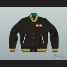 Ethiopia Varsity Letterman Jacket-Style Sweatshirt