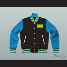Gabon Varsity Letterman Jacket-Style Sweatshirt