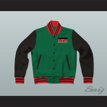 Kenya Varsity Letterman Jacket-Style Sweatshirt