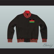 Malawi Varsity Letterman Jacket-Style Sweatshirt