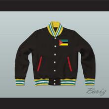 Mozambique Varsity Letterman Jacket-Style Sweatshirt
