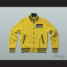 South Sudan Varsity Letterman Jacket-Style Sweatshirt