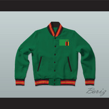 Zambia Varsity Letterman Jacket-Style Sweatshirt