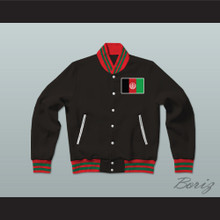 Afghanistan Varsity Letterman Jacket-Style Sweatshirt