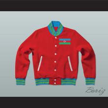 Azerbaijan Varsity Letterman Jacket-Style Sweatshirt